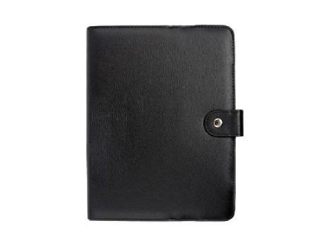 """чехол/книжка на застежке для планшетного ПК 9"""" (жесткий, кожа, черный)"""