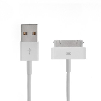 "USB кабель ""LP"" для Apple iPhone/iPad 30 pin (белый/европакет)"