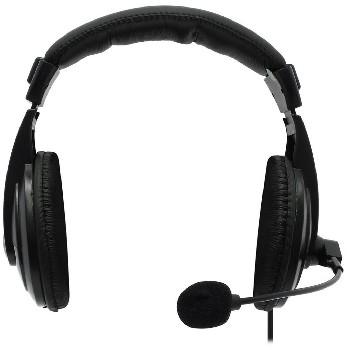Наушники проводные полноразмерные Defender с микрофоном Gryphon 750 (черный)