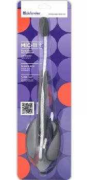 Микрофон настольный Defender MIC-111 (гибкая ножка) (серый)