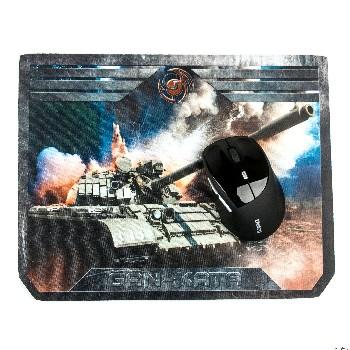 Коврик для мыши Dialog PGK-07 tank ткань+ резина (игровой )