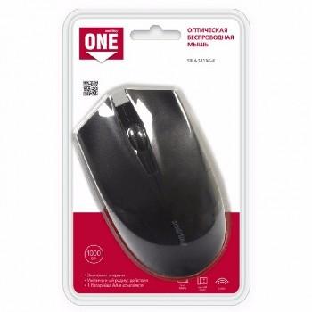 Мышь беспроводная (USB)  Smart Buy оптическая ONE 341AG  (универсальная) (чёрный)