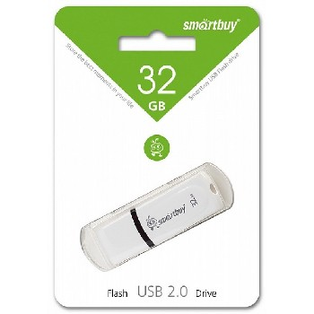 Накопитель Flash Drive USB 2.0 32 Gb Smart Buy Paean (белый)