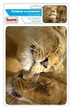 Коврик для мыши Buro BU-M40030 губчатая резина  (Львы)