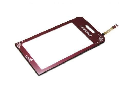 Тачскрин Samsung S5230 La Fleur красный