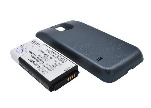 """АКБ для Samsung Galaxy S4 I9500 повышенной  емкости """"LP"""" Li5200 mAh с задней крышкой (синий)"""