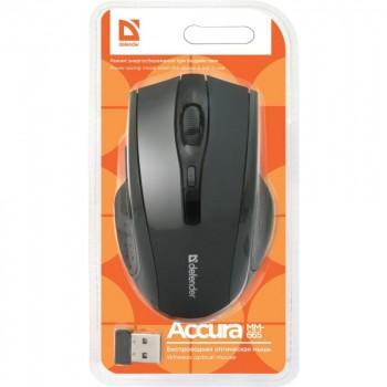 Мышь беспроводная (USB)  Defender оптическая Accura MM-665  6кн. (мультимедиа) (чёрный)