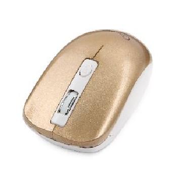 Мышь беспроводная (USB)  Gembird бесшумный клик MUSW-400-G 3кн. (универсальная) (золотой)