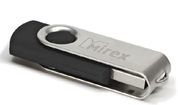 Накопитель Flash Drive USB 2.0 16 Gb Mirex SWIVEL (черный) (пластик/металл)