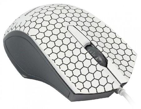 Мышь проводная (USB)  Smart Buy оптическая 334 (с подсветкой) 3кн. (универсальная) (чёрный/белый)
