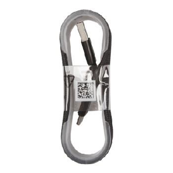 """USB кабель """"LP"""" Micro USB оплетка и металл. разъемы в катушке 1,5 метра (черный)"""