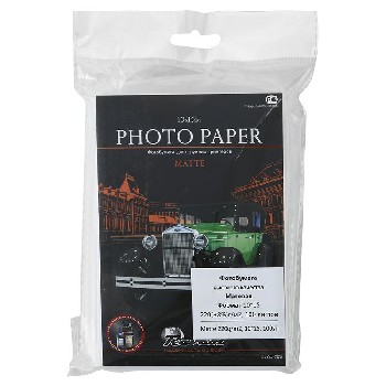 Фотобумага, матовая, 10x15, 220г/м2, 100 л.