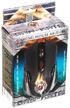 Мышь проводная (USB)  Dialog оптическая Gan-Kata MGK-10U 6кн. (игровая) (чёрный)