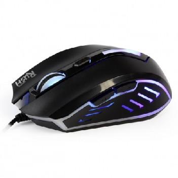 Мышь проводная (USB)  Smart Buy оптическая RUSH 712 (цв.подсветка) 5кн. (игровая) (чёрный)