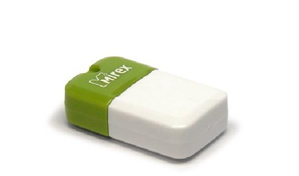 Накопитель Flash Drive USB 2.0 8 Gb Mirex Arton (бело-зеленый) (пластик)