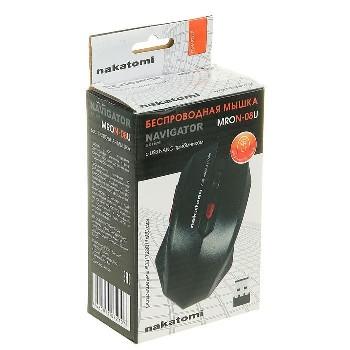 Мышь беспроводная (USB)  Dialog оптическая MRON-08U Nakatomi Navigator RF 6кн. (мультимедиа) (чёрный