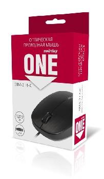 Мышь проводная (USB)  Smart Buy оптическая ONE 214-K 3кн. (универсальная) (чёрный)