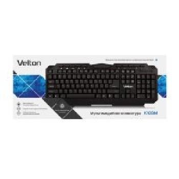 Клавиатура проводная (USB) Velton K103M (чёрный) 10 мультимедийных клавиш
