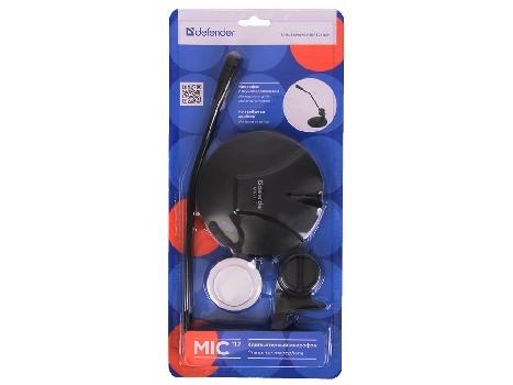 Микрофон настольный Defender MIC-117 (черный)