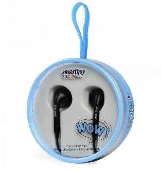 Наушники проводные вкладыши Smart Buy с микрофоном WOW (в стиле Apple) (чёрный)
