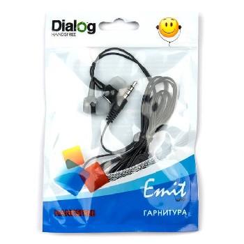 Наушники проводные вставные Dialog с микрофоном ES-10 (черный)