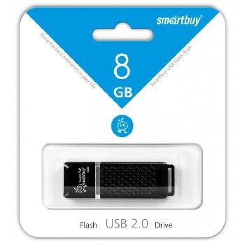 Накопитель Flash Drive USB 2.0 8 Gb Smart Buy Quartz series (черный)