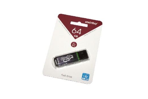 Накопитель Flash Drive USB 3.0 64 Gb Smart Buy X-Cut Black (черный)