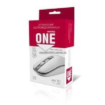 Мышь беспроводная (USB)  Smart Buy оптическая SBM-359AG-WG 3кн. (универсальная) (белый/серый)