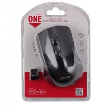 Мышь беспроводная (USB)  Smart Buy оптическая ONE 352 3кн. (универсальная) (чёрный)