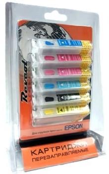 """ПЗК Epson """"Revcol"""" T0801-806 (P50) с чернилами! Dye"""