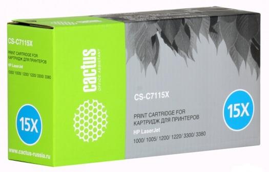 Картридж CACTUS CS-C7115X для принтеров HP LaserJet 1000/ 1005/ 1200/ 1220/ 3300/ 3380