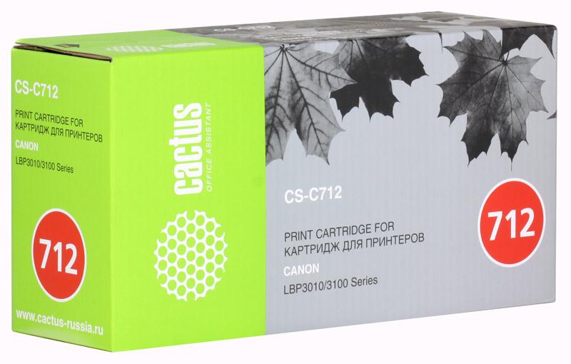 Картридж CACTUS CS-C712 для принтеров CANON LBP-3010/3100