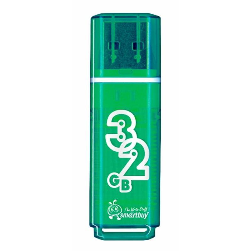 Накопитель Flash Drive USB 2.0 32 Gb Smart Buy Glossy series (зеленый)